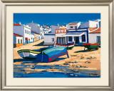 Barque Bleue a Alvor Prints by Jean-Claude Quilici