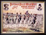 Buffalo Bill's Wild West, Cavalry Lancers Framed Giclee Print