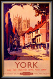 York, BR poster, 1950s Framed Giclee Print by Claude Buckle