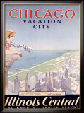 Chicago Illinois Central Tour Framed Giclee Print