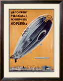 Russian Dirigible Framed Giclee Print