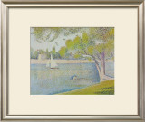 The Seine at Courbevoie, c.1886 Print by Georges Seurat