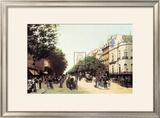 Le Boulevard des Italiens Poster by Edmond Georges Grandjean