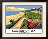 Clacton-on-Sea Framed Giclee Print by Frank Newbould