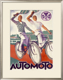 Automoto Framed Giclee Print by Maurice Lauro