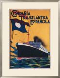 Compania Transatlantica Espanola Framed Giclee Print