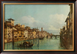 The River Arno with Ponte Santa Trinita, Florence Prints by Bernardo Bellotto