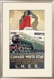 LNER, Cunard Line, White Star, 1923-1947 Framed Giclee Print