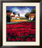 Poppy Field I Prints by J. Clarke
