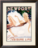 Newport, Enjoy the Leisure Life Framed Giclee Print