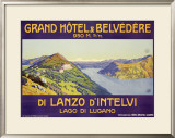 Grand Hotel and Belvedere, Lanzo d'Intelvi Framed Giclee Print