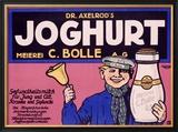 Joghurt Lámina giclée enmarcada por J. Loe