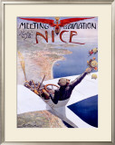 Meeting d'Aviation, Nice, 1910 Framed Giclee Print by Charles Leonce Brosse