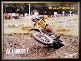 Bultaco Al Limite! MX Motocross Framed Giclee Print