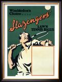 Wimbledon Slazenger Tennis Ball Framed Giclee Print