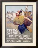 Italian Grape Harvest Framed Giclee Print