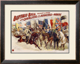 Buffalo Bill's Wild West, Cavaliers Audacieux Framed Giclee Print
