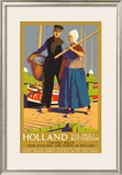 Holland Via Hull-Rotterdam, LNER Poster, 1923-1947 Framed Giclee Print by  Templeton