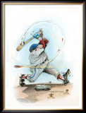Fast Ball Framed Giclee Print by Gary Patterson
