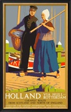 Holland Via Hull-Rotterdam, LNER Poster, 1923-1947 Framed Giclee Print by Templeton