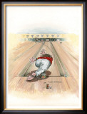 Curve Ball Framed Giclee Print by Gary Patterson