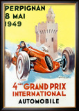4th Grand Prix, Perpignan, 1949 Framed Giclee Print by G. Raspaut