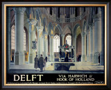Delft, Via Harwich & Hook of Holland Framed Giclee Print