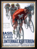 Criterium Bicycle Framed Giclee Print