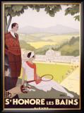 St. Honore les Bains Framed Giclee Print