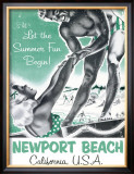 Newport Beach, California Framed Giclee Print