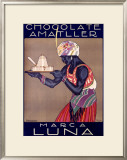 Chocolate Amatller, Marca Luna Framed Giclee Print by Rafael de Penagos