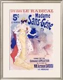 Madame Sans Gene Framed Giclee Print by Jules Chéret