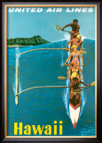 United Airlines, Outrigger Framed Giclee Print by Stan Galli