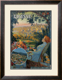 Grasse Framed Giclee Print by David Dellepiane