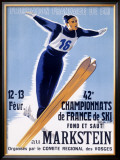 42nd French Snow Ski Championship Framed Giclee Print