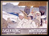 Zugerberg Wintersport Framed Giclee Print by Burkhard Mangold
