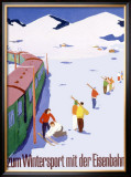 Eisenbahn Winter Sports Framed Giclee Print