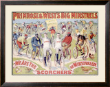 Primrose and West's Big Minstrels Framed Giclee Print
