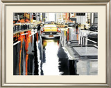 Street Yellow Life Prints by Alain Bertrand