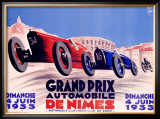 Grand Prix de Nimes Framed Giclee Print by George Yrrab