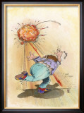 Strike Framed Giclee Print by Gary Patterson