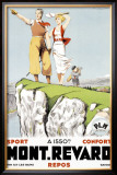 Mont Revard, Tennis and Golf Framed Giclee Print by Paul Ordner
