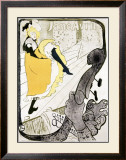 Jane Avril Framed Giclee Print by Henri de Toulouse-Lautrec