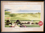 London Midland Scotland Railway, Turnberry Golf Course Framed Giclee Print