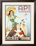 A.P.I. Cioccolato Framed Giclee Print by Di Lullo