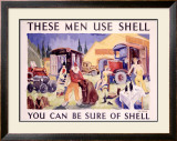 Shell, Circus Performers Framed Giclee Print by  Schwitzer