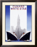Cunard Line, White Star Framed Giclee Print by A. Roquin