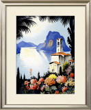 Castagnola Lake Lugano Resort Framed Giclee Print