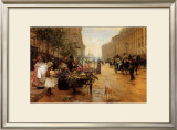 Rue Royale, Paris Print by L. Shryver