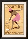 Riquet Tea Framed Giclee Print by Ludwig Hohlwein